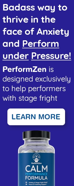 PerformZen is designed exclusively to help performers with stage fright and performance anxiety
