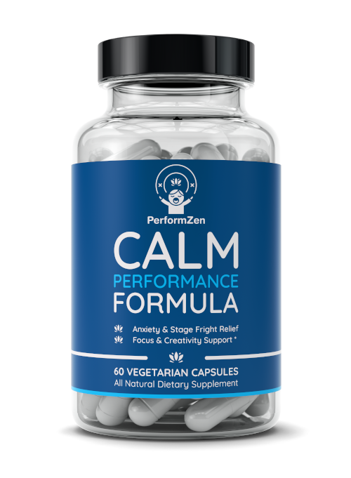 PerformZen Calm Performance Formula for stage fright and performance anxiety