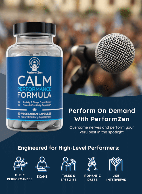 Perform on Demand with PerformZen, perfect for musicians, exam prep, job interviews, tals & speeches and romantic dates