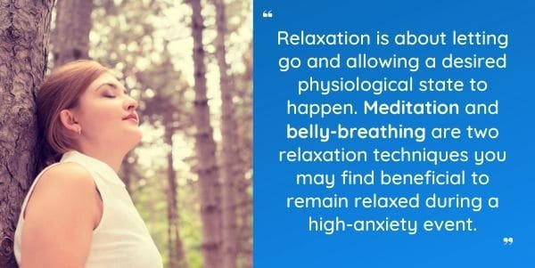 Belly Breathing & meditation for use with PerformZen for anxiety